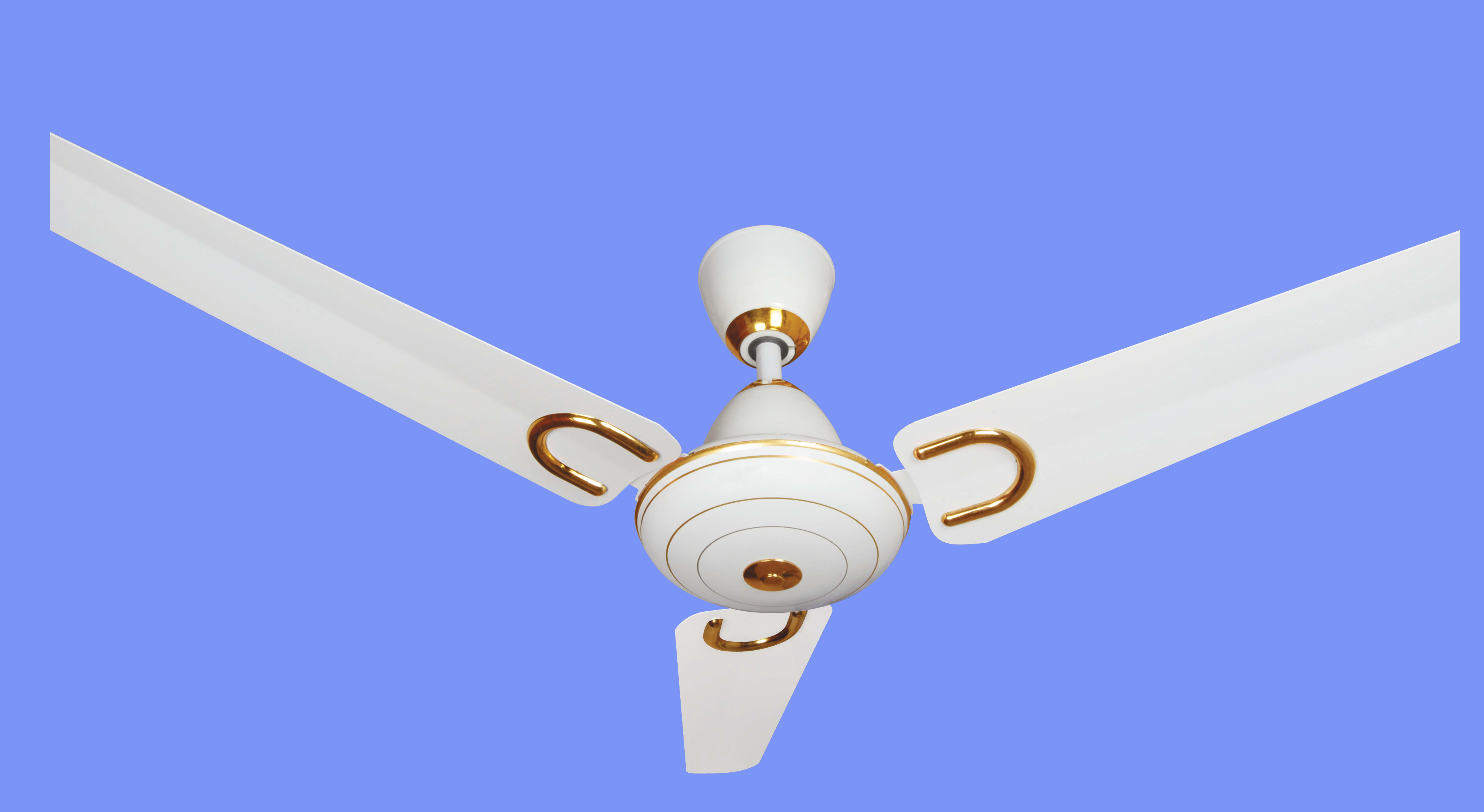 ABID TAJ GOLD CEILING FAN Image