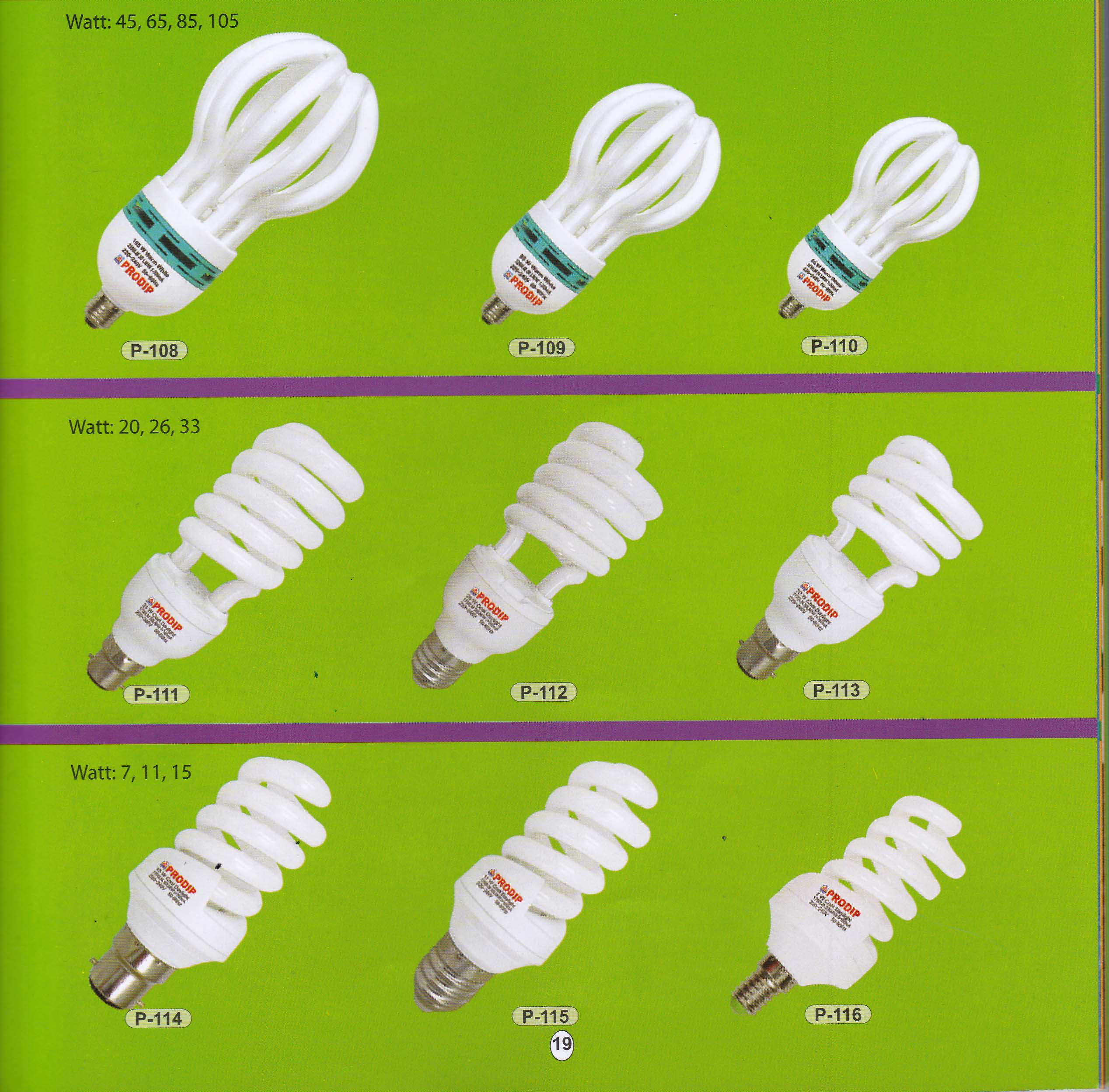 CFL SPECIFICATIONS Image